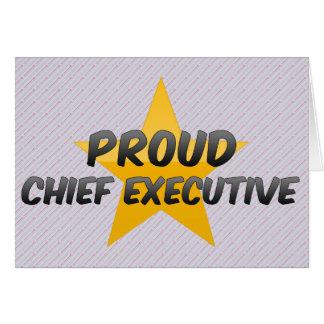 Ejecutivo orgulloso felicitación