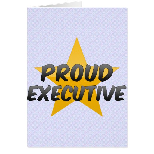 Ejecutivo orgulloso tarjeta