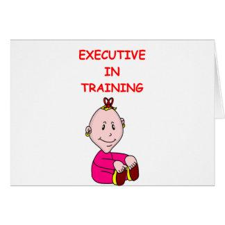 ejecutivo tarjeta de felicitación