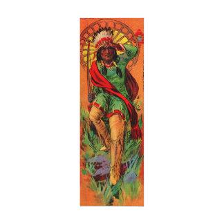 Ejemplo 1919 del indio del nativo americano impresión en lienzo