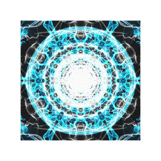 Ejemplo azul de las ondas eléctricas de la galaxia lona estirada galerias