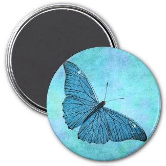 Ejemplo azul de los 1800s de la mariposa del imán