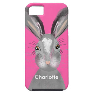 Ejemplo banal de las liebres grises lindas funda para iPhone SE/5/5s