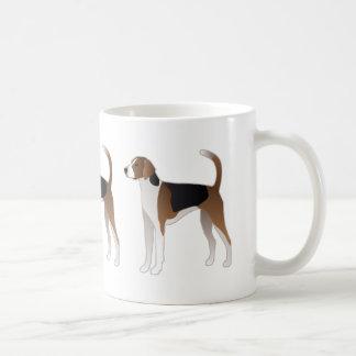 Ejemplo básico de la raza del perro del raposero taza de café