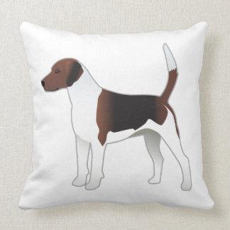 Ejemplo básico del perro de caza de la raza del cojín decorativo