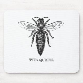 Ejemplo blanco y negro de la abeja reina alfombrilla de ratón