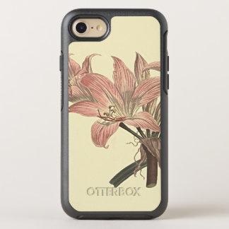 Ejemplo botánico rosado del lirio de belladona funda OtterBox symmetry para iPhone 7