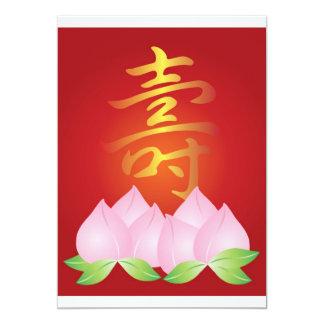 Ejemplo chino de la longevidad de la caligrafía invitación 12,7 x 17,8 cm
