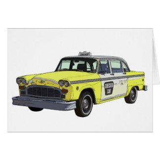 Ejemplo clásico del coche del taxi del taxi del in tarjeta
