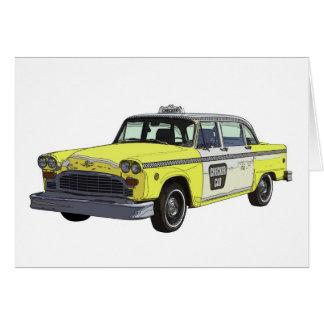 Ejemplo clásico del coche del taxi del taxi del in felicitación