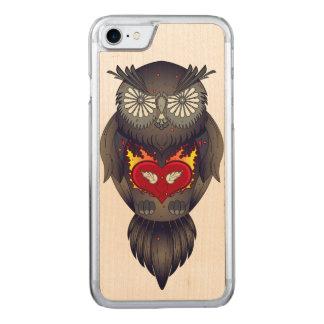 Ejemplo colorido del búho funda para iPhone 8/7 de carved