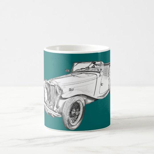 Ejemplo convertible del coche antiguo de MG Taza De Café