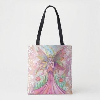 Ejemplo de hadas rosado del arte de la fantasía bolsa de tela