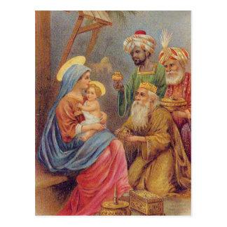 Ejemplo de Jesús de la natividad del vintage del Postal
