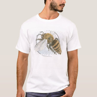 Ejemplo de la abeja europea de la miel camiseta