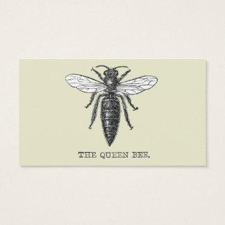 Ejemplo de la abeja reina del vintage tarjeta de negocios