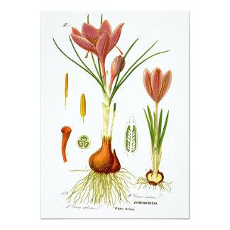 Ejemplo de la botánica invitación 12,7 x 17,8 cm