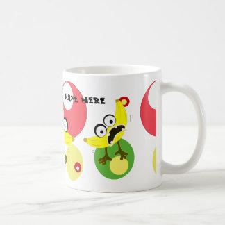 Ejemplo de la fruta del monstruo del plátano taza de café