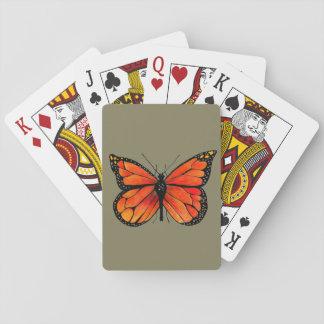 Ejemplo de la mariposa de monarca en naipes