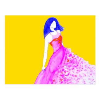 Ejemplo de la moda - colores verdaderos postal