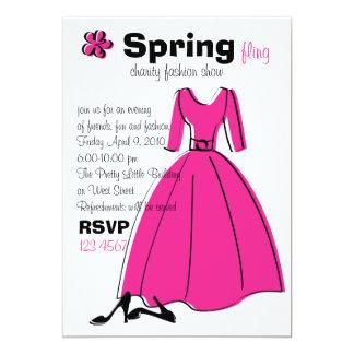 Ejemplo de la moda del Fling de la primavera Invitación 12,7 X 17,8 Cm