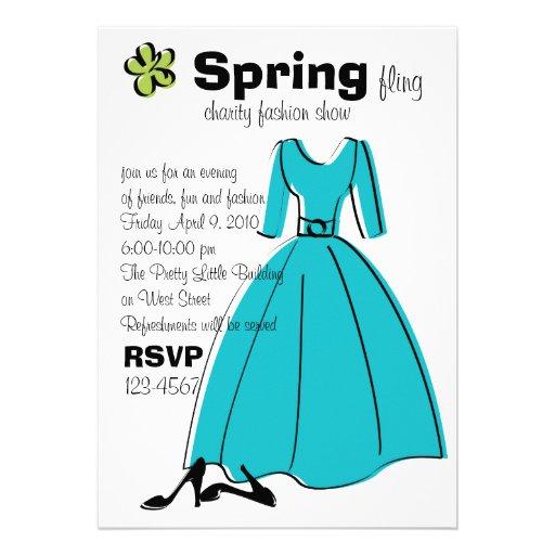 Ejemplo de la moda del Fling de la primavera Invitación