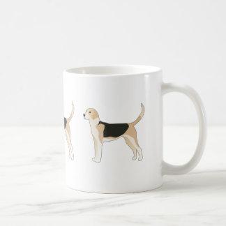 Ejemplo de la raza del perro del raposero inglés taza de café