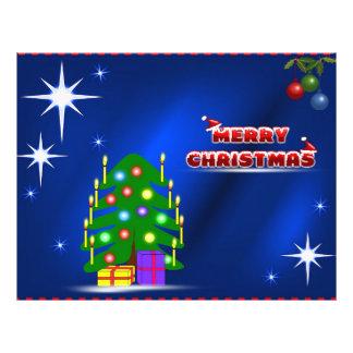 Ejemplo de las Felices Navidad Tarjeta Publicitaria