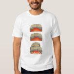 Ejemplo de las placas oceánicas que separan y camisetas