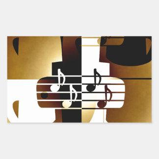 Ejemplo de los pares del canto pegatina rectangular