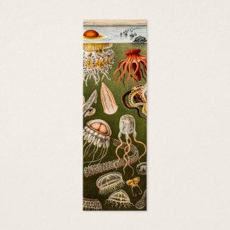 Ejemplo de los pescados de jalea de la antigüedad tarjeta de visita pequeña