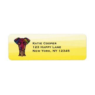Ejemplo de lujo del elefante - modelo decorativo etiqueta de remitente