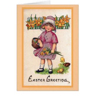 Ejemplo de Pascua del vintage de los saludos de Tarjeta De Felicitación