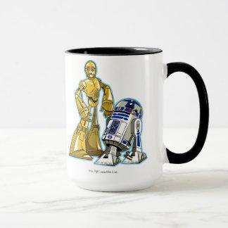 Ejemplo de R2-D2 y de C-3PO Taza