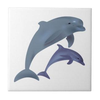 Ejemplo de salto de los delfínes azulejo