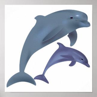 Ejemplo de salto de los delfínes póster