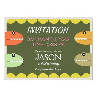 Ejemplo de T-REX Invitación 12,7 X 17,8 Cm