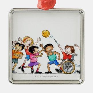 Ejemplo de un grupo de niños incluyendo a ornamente de reyes