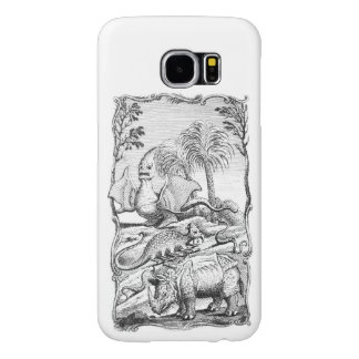 Ejemplo del animal de Eroneous del vintage Funda Samsung Galaxy S6