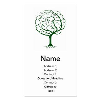 Ejemplo del árbol del cerebro tarjeta de visita