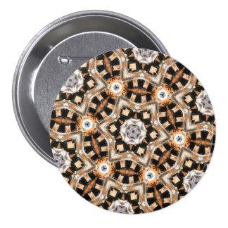 Ejemplo del arte abstracto del caleidoscopio chapa redonda de 7 cm