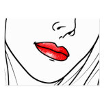 Ejemplo del artista de maquillaje tarjetas de visita grandes
