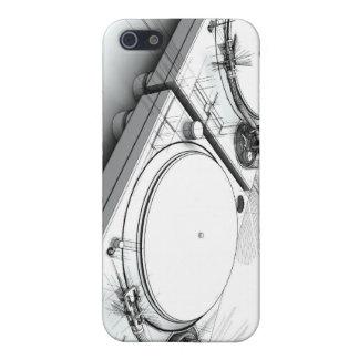 Ejemplo del bosquejo 3D de las placas giratorias d iPhone 5 Cárcasas