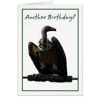 Ejemplo del buitre del humor del cumpleaños tarjeta de felicitación