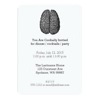 Ejemplo del cerebro humano del vintage invitación 12,7 x 17,8 cm