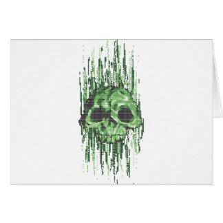 ejemplo del concepto del cráneo del virus felicitaciones