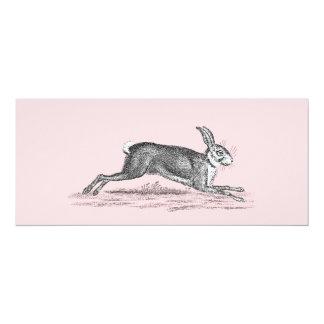 Ejemplo del conejo de conejito de las liebres del invitación 10,1 x 23,5 cm