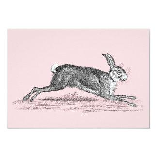 Ejemplo del conejo de conejito de las liebres del invitación 8,9 x 12,7 cm