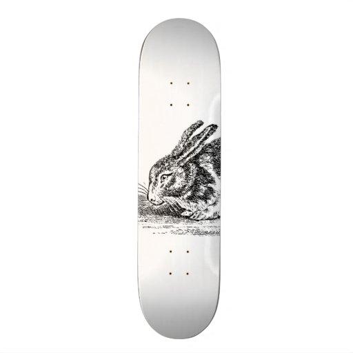 Ejemplo del conejo de conejito del vintage - conej patines personalizados