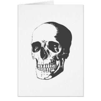 Ejemplo del cráneo tarjeta de felicitación